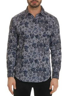 Robert Graham Men's Barker Oxford Floral Classic-Fit Sport Shirt