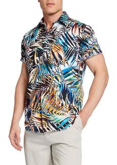 Robert Graham Men's Barnhart Classic-Fit Graphic Short-Sleeve Sport Shirt