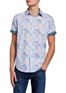 Robert Graham Men's Benbow Short-Sleeve Patterned Sport Shirt