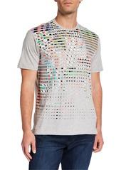 Robert Graham Men's Blurred Florals Short-Sleeve Graphic T-Shirt