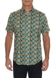 Men's Bottle Service Short Sleeve Shirt Size: XS by Robert Graham
