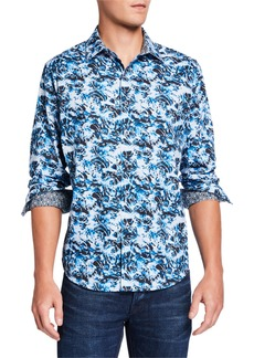 Robert Graham Men's Boughton Abstract Long-Sleeve Sport Shirt
