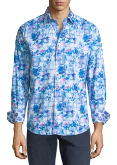 Robert Graham Men's Bow Line Woven Sport Shirt