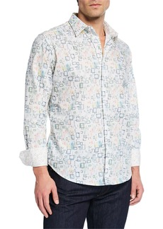 Robert Graham Men's Boxed In Long-Sleeve Sport Shirt