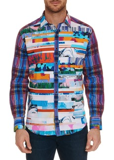 Robert Graham Men's Breaking Lands Sport Shirt