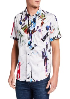 Robert Graham Men's Bristlecone Abstract Short-Sleeve Shirt