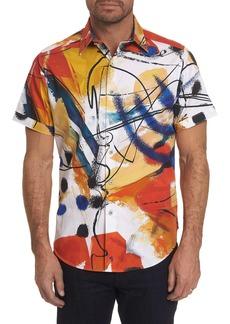 Men's Broad Short Sleeve Shirt Size: M by Robert Graham