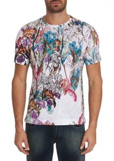 Robert Graham Men's Broken Blossoms Graphic Crewneck T-Shirt