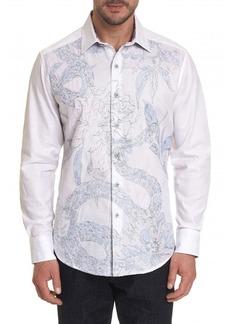 Robert Graham Men's Burns Snake-Embroidered Sport Shirt