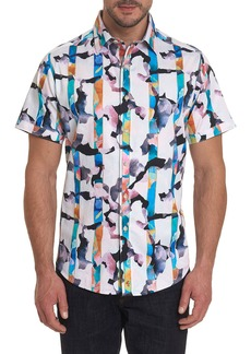 Robert Graham Men's Calazans Graphic Short-Sleeve Sport Shirt