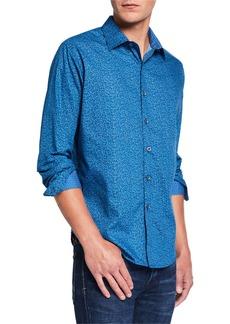 Robert Graham Men's Canna Printed Long-Sleeve Sport Shirt