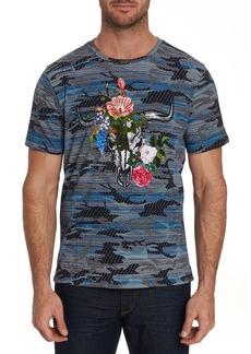 Robert Graham Men's Casperson Camo Skull-Print Short-Sleeve Graphic T-Shirt