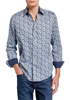 Robert Graham Men's Chaprice Sport Shirt w/ Contrast Reverse Detail
