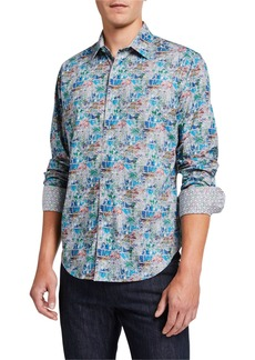 Robert Graham Men's Clanton Long-Sleeve Cotton Sport Shirt