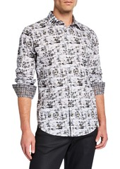 Robert Graham Men's Classic-Fit Albury Abstract Long-Sleeve Sport-Shirt