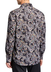 Robert Graham Men's Classic-Fit Apax Paisley Long-Sleeve Cotton Sport Shirt