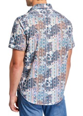 Robert Graham Men's Classic-Fit Berwick Geo-Print Short-Sleeve Cotton Sport Shirt