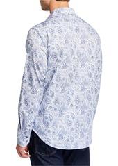 Robert Graham Men's Classic-Fit Brewbaker Paisley Long-Sleeve Sport Shirt