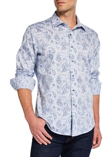 Robert Graham Men's Classic-Fit Brewbaker Paisley Long-Sleeve Sport Shirt