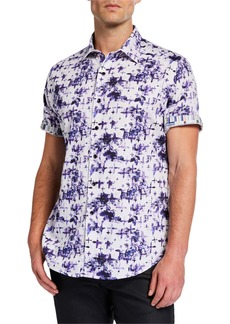 Robert Graham Men's Classic-Fit Chadesberry Printed Short-Sleeve Shirt