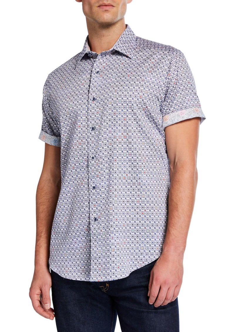 Robert Graham Men's Classic-Fit Dalphon Geometric Short-Sleeve Sport Shirt