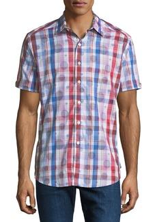 Robert Graham Men's Classic-Fit Desmodium Plaid Short-Sleeve Sport Shirt