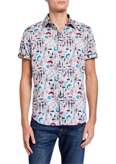 Robert Graham Men's Classic-Fit Fairwest Short-Sleeve Sport Shirt