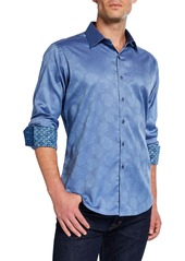 Robert Graham Men's Classic-Fit Haystack Paisley Long-Sleeve Cotton Sport Shirt