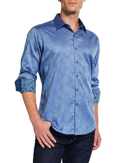 Robert Graham Men's Classic-Fit Haystack Paisley Long-Sleeve Cotton Sport Shirt