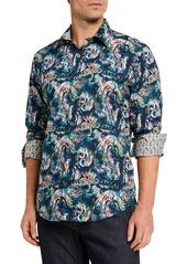 Robert Graham Men's Classic-Fit Howe Long-Sleeve Sport Shirt