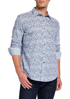 Robert Graham Men's Classic-Fit Komorn Abstract Long-Sleeve Sport Shirt
