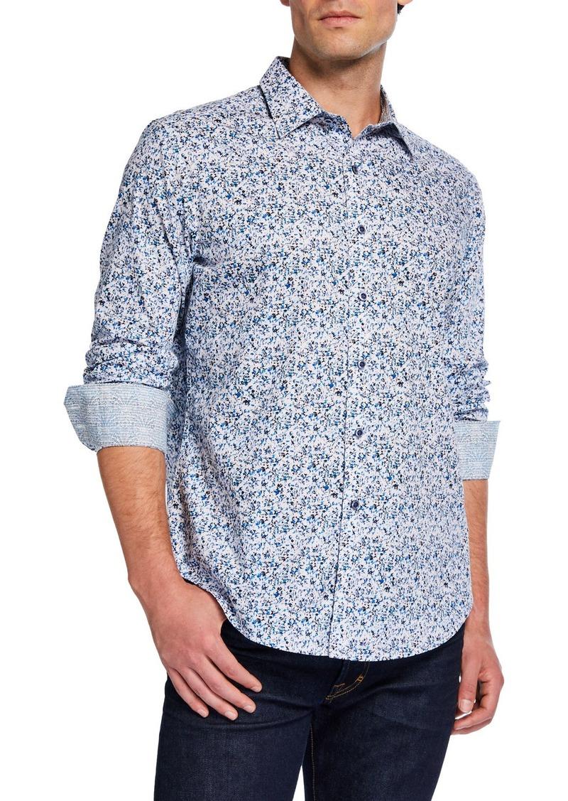 Robert Graham Men's Classic-Fit Komorn Abstract Long-Sleeve Sport Shirt