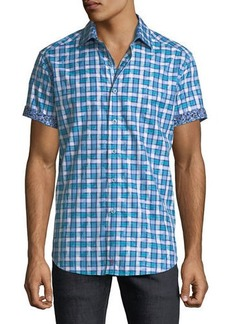 Robert Graham Men's Classic-Fit Tangier Plaid Short-Sleeve Sport Shirt