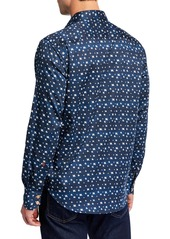 Robert Graham Men's Classic-Fit Tesoro Printed Long-Sleeve Sport Shirt