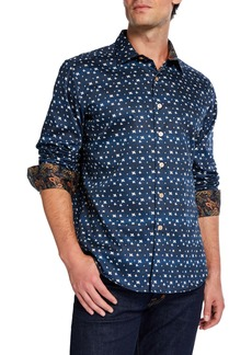 Robert Graham Men's Classic-Fit Tesoro Printed Long-Sleeve Sport Shirt