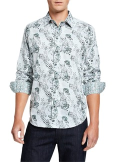 Robert Graham Men's Clemice Printed Long-Sleeve Sport Shirt