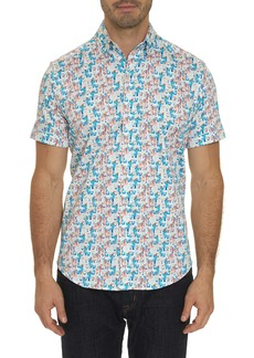 Men's Cocktails Short Sleeve Shirt Size: XS by Robert Graham