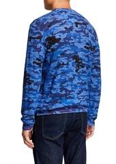 Robert Graham Men's Commander Linen-Cotton Camo T-Shirt