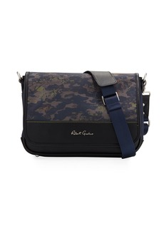 Robert Graham Men's Cormac Camo-Print Messenger Bag