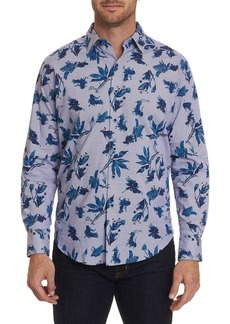 Robert Graham Men's Craneway Watercolor Floral Print Sport Shirt