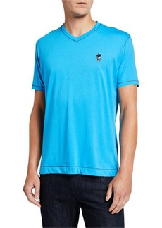 Robert Graham Men's Damien Knit V-Neck T-Shirt