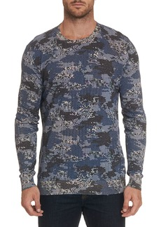 Robert Graham Men's Dante Long-Sleeve Crewneck Shirt