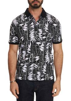 Robert Graham Men's Dimas Leaf-Print Polo Shirt