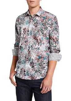 Robert Graham Men's Dubarry Watercolor Long-Sleeve Sport Shirt