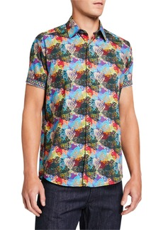 Robert Graham Men's Eley Short-Sleeve Button-Down Shirt