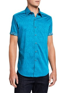 Robert Graham Men's Equinox Short-Sleeve Button-Down Shirt