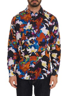 Men's Fantasy Florals Linen Sport Shirt Size: XS by Robert Graham
