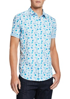 Robert Graham Men's Fendal Circle-Print Short-Sleeve Button-Down Shirt