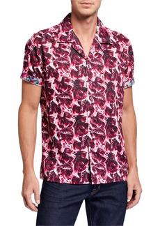 Robert Graham Men's Floral Lane Short-Sleeve Sport Shirt
