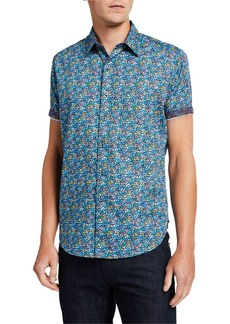 Robert Graham Men's Forestdale Short-Sleeve Sport Shirt